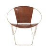 Woodland Imports Metal Leather Arm Chair