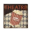 Woodland Imports Funky Wood Metal Theatre Wall Décor