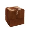 Woodland Imports Fascinating Leather Square Ottoman