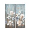 Woodland Imports Simply Beautiful 2 Piece Framed Painting Print on Wrapped Canvas Set