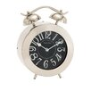 Woodland Imports Distinctively Cute Stainless Steel Table Clock