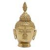 Woodland Imports Bold and Peaceful Aluminum Buddha Bust