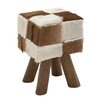 Woodland Imports Distinctive Square Ottoman