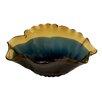 Woodland Imports Stylish Patterned Glass Flared Decorative Bowl