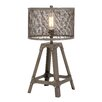 """Woodland Imports Superb Unique Styled Metal 23"""" H Table Lamp with Drum Shade"""