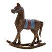 Woodland Imports Simply Delightful Wood Rocking Horse Figurine