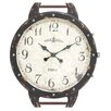Woodland Imports The Antique Wood Metal Wall Clock
