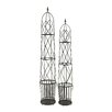 Woodland Imports Adorable 2 Piece Round Trellis Planter Set