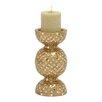 Woodland Imports Metal Mosaic Candle Holder