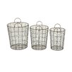 Woodland Imports 3 Piece Durable Baskets Set