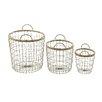 Woodland Imports 3 Piece Exclusive Basket Set