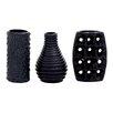 Woodland Imports 3 Piece Stylish and Unique Vase Set