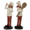 Woodland Imports 2 Piece Unconventional Chef Figurine Set