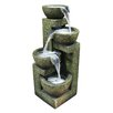 Fiberglass and Stone Tiered Pot Fountain - Woodland Imports Indoor and Outdoor Fountains