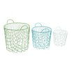 Woodland Imports Alluring 3 Piece Storage Basket Set