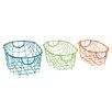 Woodland Imports 3 Piece Marvelous Storage Basket Set