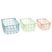 Woodland Imports 3 Piece Appealing Storage Basket Set