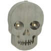 Woodland Imports Attractive Metal LED Wall Skull