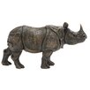 Woodland Imports Well Built Rhino Statue