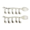 Woodland Imports 2 Piece Classy Kitchen Hook Set