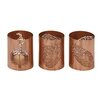 Woodland Imports 3 Piece Metal Leaf Votive Set