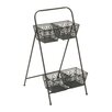 Woodland Imports 2 Tier 4 Compartment Rack