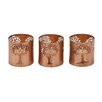 Woodland Imports 3 Piece Metal Votive Set