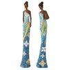 Woodland Imports 2 Piece African Lady Figurine Set
