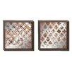 Woodland Imports 2 Piece Framed Mirror Art Set
