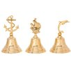 Woodland Imports 3 Piece Bell Sculpture Set