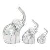 Woodland Imports 3 Piece Elephant Figurine Set
