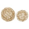Woodland Imports 2 Piece Wire Orb Sculpture Set