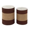 Woodland Imports 2 Piece End Table Set
