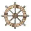 Woodland Imports Ship Wheel Wall Décor