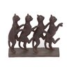 Woodland Imports Row of Lexington Standing Cats Figurine
