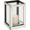 Woodland Imports The Lovely Wood Mirror Candle Holder