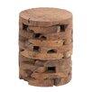 Woodland Imports Wooden Teak Stool