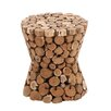 Woodland Imports Teak Material Wooden Rustic Stool