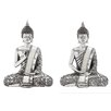Woodland Imports Polystone Spiritual Sitting Buddha Figurine (Set of 2)