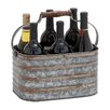 Woodland Imports Rustic Metal Bottle Holder