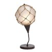 "Woodland Imports Fishing Net 19"" H Table Lamp with Globe Shade"