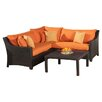 RST Brands Deco 4 Piece Deep Seating Group with Cushions