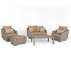 RST Brands Cannes 5 Piece Deep Seating Group with Cushion