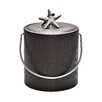 Mr Ice Bucket 3 Qt Mocha Wicker Ice Bucket with Chunky Shell Knob
