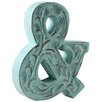 Fetco Home Decor Farren Monogram Ampersand Wall Décor