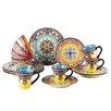 EuroCeramica Zanzibar 16 Piece Dinnerware Set