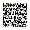 DENY Designs If You Love by Kal Barteski Framed Textual Art