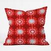 DENY Designs Julia Da Rocha Retro Flowers Throw Pillow