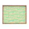 DENY Designs Jacqueline Maldonado Leaf Dot Stripe Mint Rectangle Tray
