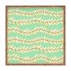 DENY Designs Jacqueline Maldonado Leaf Dot Stripe Mint Square Tray